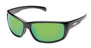 Milestone Sunglasses - Black/Polarized Green Mirror