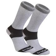 Bridgedale CoolMax Sock 2pk - Grey Lg