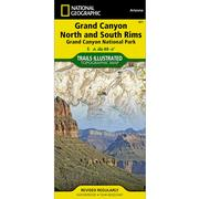 Grand Canyon North and South Rims Trail Map