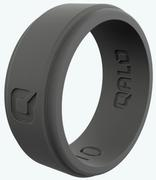 Men's Charcoal Grey Step Edge Q2X Silicone Ring