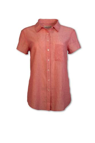 Women's Short Sleeved Striped Shirt