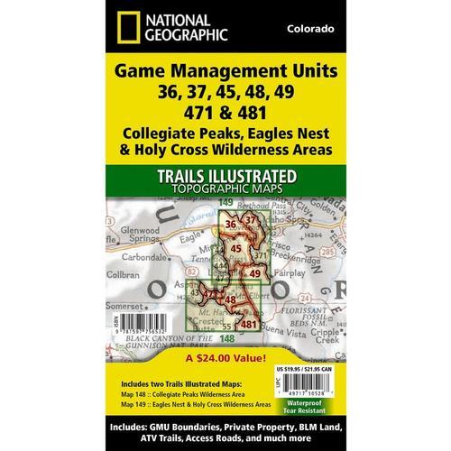 Colorado 14ers North Map
