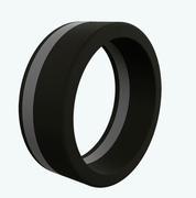 Black Pinstripe Silicone Ring