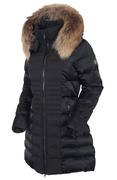 Women's Eva Waterproof Quilted 3/4 Coat With Removable Fur Ruff
