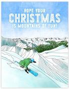 Snowboard Christmas Card