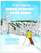 Alpine Ski Christmas Card