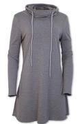 Women's Cowl Neck French Terry Tunic