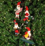Summer Santa Ornaments