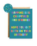 Happiness and S'Mores Birthday Card
