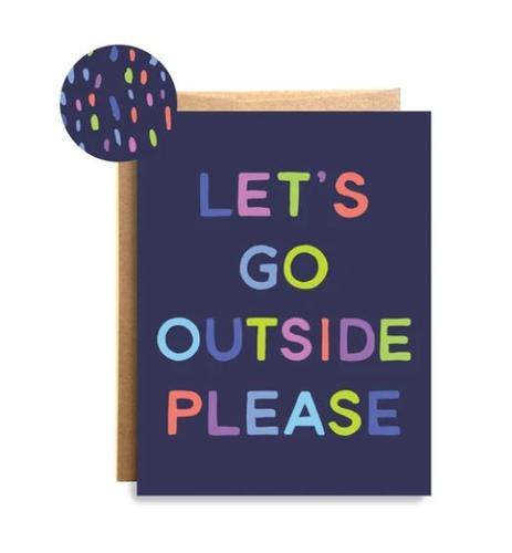 Outside Please Card