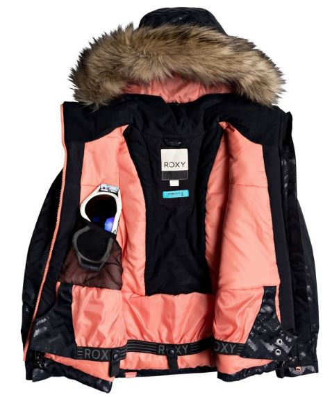 Roxy Girls American Pie Girl Embossed Snow Jacket Insulated Jacket