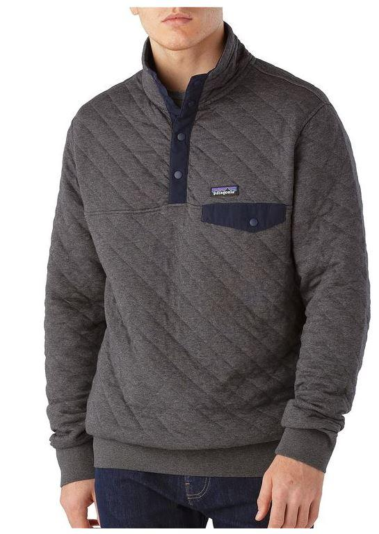 Patagonia Organic Cotton Quilt Snap T Pullover L Bill
